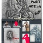 اکشن فتوشاپ تبدیل عکس عادی به نقاشی با اسپری Spray Paint Action