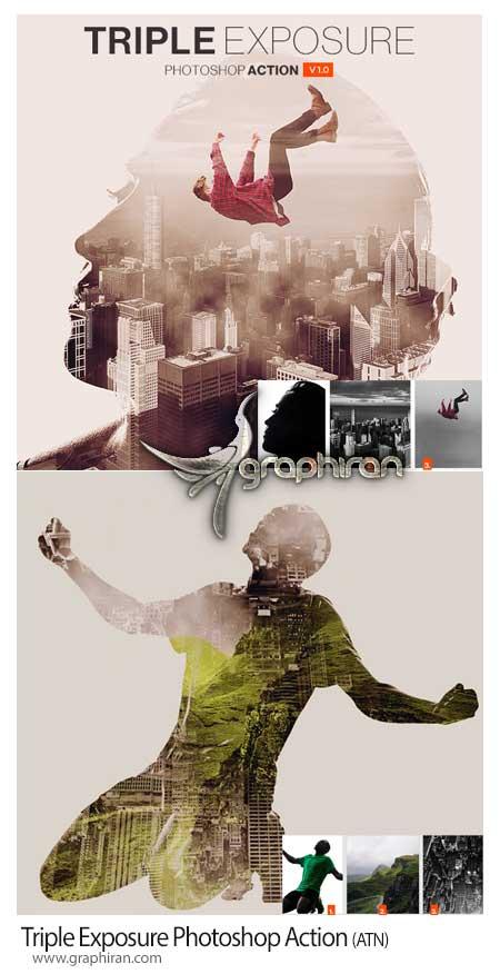 اکشن فتوشاپ ترکیب 3 عکس در هم