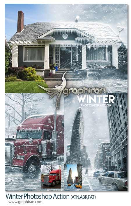 اکشن فتوشاپ افکت فصل زمستان