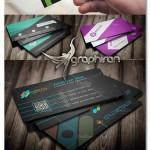 دانلود 5 نمونه آماده کارت ویزیت خلاقانه لایه باز - شماره 403