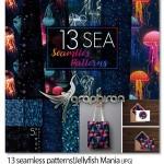 پترن های اقیانوس و عروس دریایی Sea Patterns Jellyfish Mania