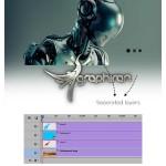 اکشن متحرک سازی ۳ بعدی عکس ۳D Sizer Animated Photoshop Action