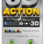 اکشن فتوشاپ ۳ بعدی کردن عکس، شکل و متن Brilliant 3D Action