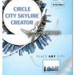 قالب لایه باز ساخت آسمان شهر دایره ای Circle City Skyline Creator