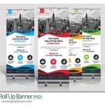 دانلود قالب آماده بنر استند تجاری تبلیغاتی PSD لایه باز