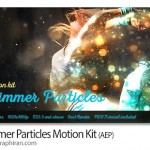 پروژه افتر افکت پاشیدن ذرات درخشان Shimmer Particles Motion Kit