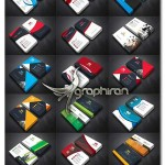 دانلود پک عظیم ۴۸ کارت ویزیت مدرن PSD لایه باز – شماره ۴۰۷