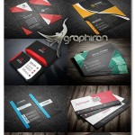 دانلود پک 10 قالب آماده کارت ویزیت وکتور لایه باز - شماره 405
