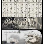 مجموعه براش فتوشاپ دود واقعی و حاصل از انفجار Ron's Smoke