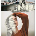 اکشن فتوشاپ تبدیل بخشی از عکس به نقاشی Selective Sketch Action