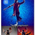 اکشن فتوشاپ پاشیدن ۳ بعدی رنگ ۳D Splashes Photoshop Action