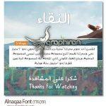 دانلود فونت عربی النقاء با طراحی فانتزی Alnaqaa Font