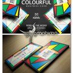 دانلود طرح کارت ویزیت فانتزی و رنگارنگ PSD فتوشاپ - شماره 410