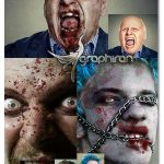اکشن فتوشاپ ایجاد چهره زامبی ترسناک Deadly Dead Photoshop Action