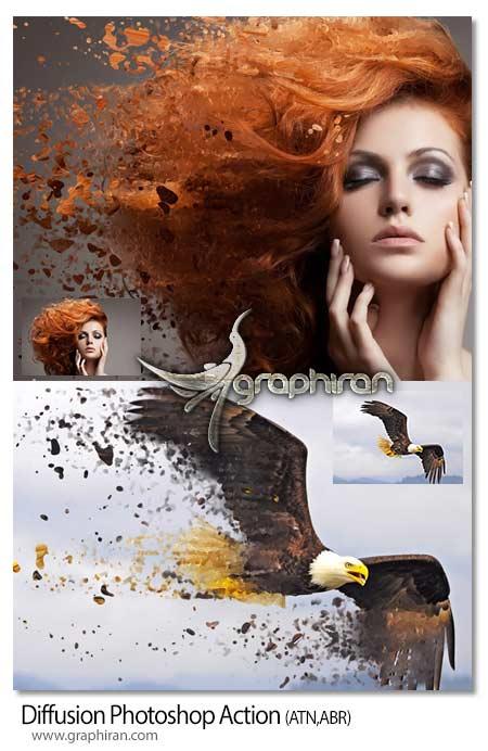 اکشن فتوشاپ انتشار رنگ های عکس
