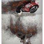اکشن فتوشاپ انتشار ذرات آتشین Embersart Photoshop Action