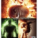 دانلود اکشن فتوشاپ افکت انفجار واقعی Explosion Photoshop Action