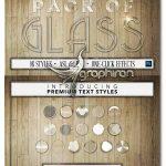 مجموعه ۱۶ استایل فتوشاپ شیشه ای شفاف Glass 16 Text Styles