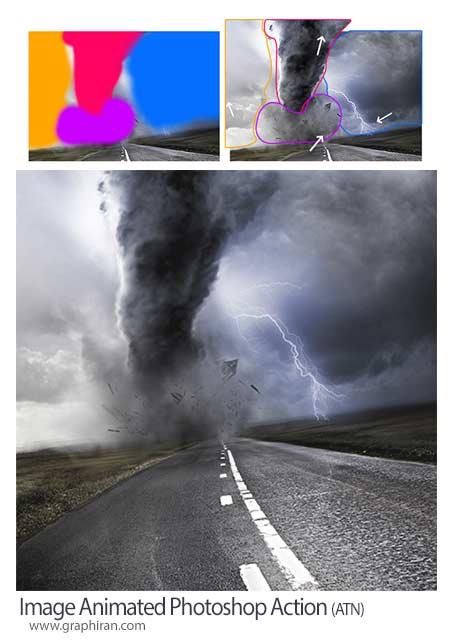 اکشن فتوشاپ متحرک سازی بخش های منتخب عکس