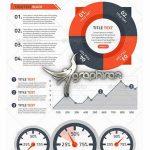 دانلود المان های PSD لایه باز اینفوگرافیک Infographic HIT