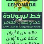 دانلود فونت عربی و فارسی لیموناد Lemonada Font