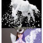 اکشن فتوشاپ افکت پاشیدن شیر Milk Splash Image Effect
