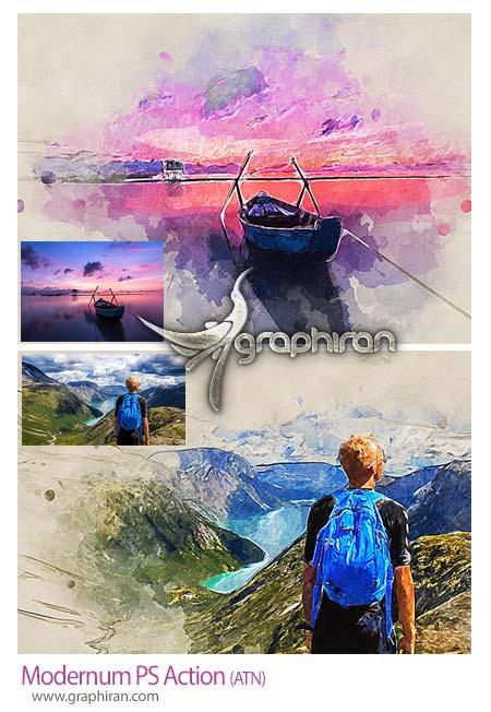 اکشن فتوشاپ تبدیل عکس به نقاشی مدرن
