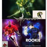 اکشن فتوشاپ افکت های الکتریکی و نوری Rookie Photoshop Action