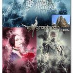 اکشن فتوشاپ افکت تندر و رعد و برق Thunder Photoshop Action