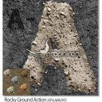 اکشن فتوشاپ ساخت زمین خاکی Rocky Ground Action
