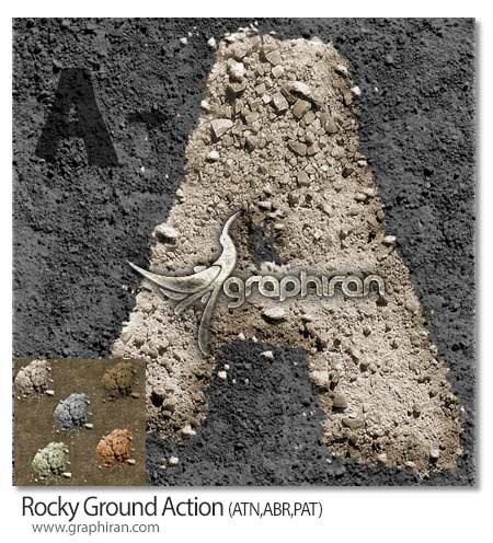 اکشن فتوشاپ ساخت زمین خاکی