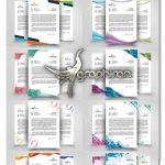 دانلود 10 طرح سربرگ تجاری PSD لایه باز Business Letterhead Bundle