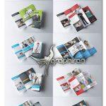 دانلود ۱۰ قالب PSD لایه باز بروشور تجاری ۳ لت Trifold Brochure Bundle