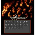دانلود براش و استایل شعله آتش برای فتوشاپ Smoke and Fire Brushes