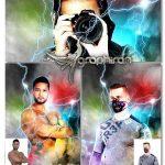 اکشن فتوشاپ افکت ابر و رعد و برق Celestial Lightning Photoshop Action