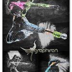 دانلود اکشن فتوشاپ افکت طرح ذغالی Chalk Art Photoshop Action