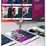 طرح تراکت تبلیغاتی رنگی PSD لایه باز Corporate Flyer Templates