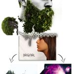 اکشن فتوشاپ ادغام حرفه ای تصاویر در هم + 100 عکس بک گراند