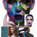 اکشن فتوشاپ نقاشی روی بدن Face Paint Photoshop Action