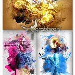 اکشن فتوشاپ افکت اثر هنری گرانج Grunge Art Photoshop Action