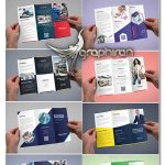 دانلود مجموعه ۱۰ طرح آماده بروشور تبلیغاتی ۳ لت PSD لایه باز