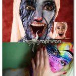 اکشن فتوشاپ نقاشی روی پوست Skin Painting Photoshop Action