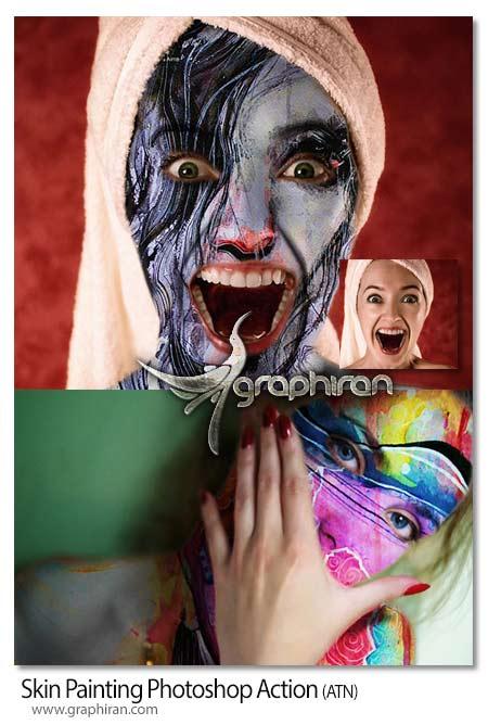 اکشن فتوشاپ نقاشی روی پوست