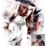 اکشن فتوشاپ نقاشی با اسپری Spray Paint Photoshop Action