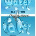 دانلود استایل متن شفاف آب برای فتوشاپ Water Text Effect