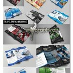دانلود ۱۰ قالب آماده بروشور ۳ لت Travel Trifold Brochure Bundle