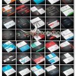 دانلود مجموعه ۱۰۰ طرح جدید کارت ویزیت لایه باز – شماره ۴۱۶