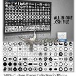 دانلود مجموعه بیش از ۱۴۰۰ شیپ فتوشاپ متنوع و کاربردی