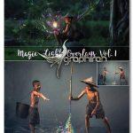 تصاویر پوششی نورهای جادویی ۴K Magic Light Overlays Vol.1