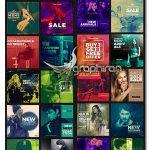 دانلود ۵۰ طرح لایه باز بنر اینستاگرام Duotone Instagram Banners